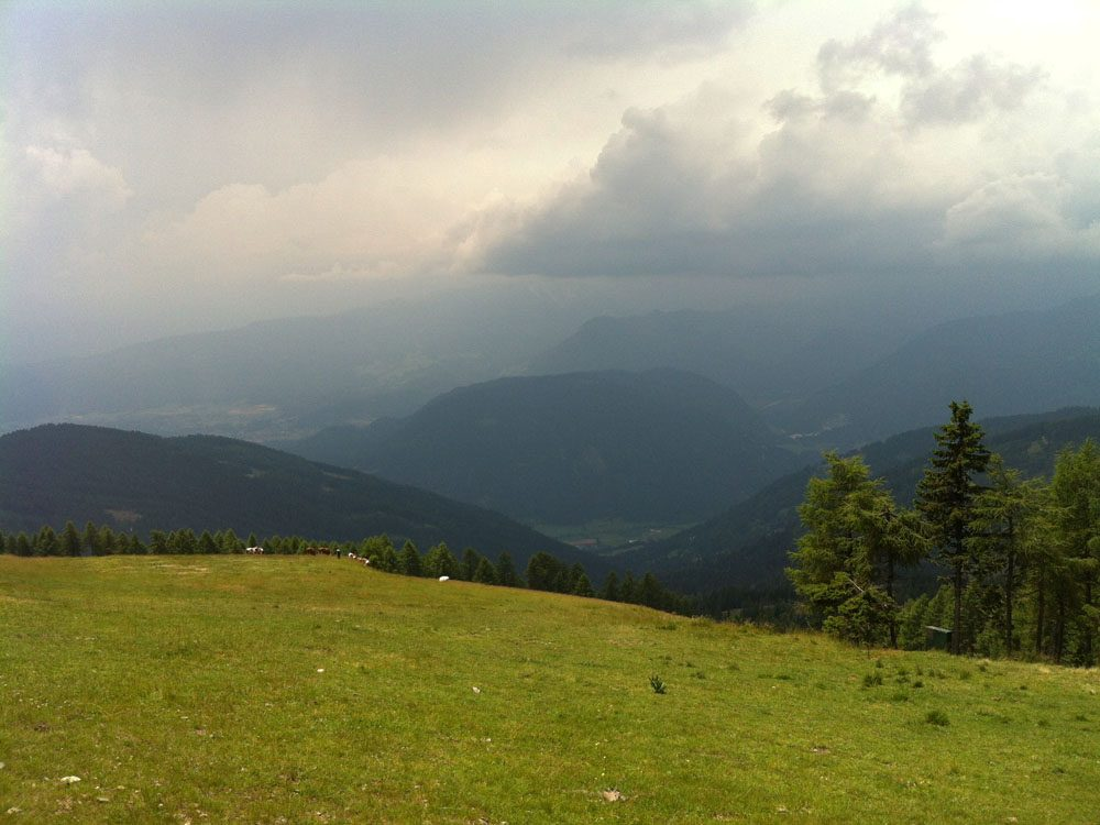 Slecht weer in de bergen