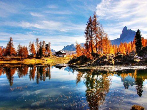 Herfst in de Dolomieten