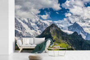 fotobehang zwitserse alpen